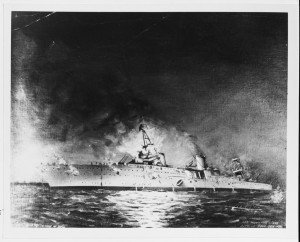 The USS Houston Sinking