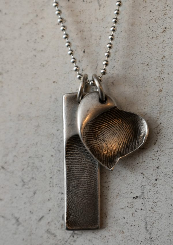 Heart and Stone Jewelry- Fingerprint Charm