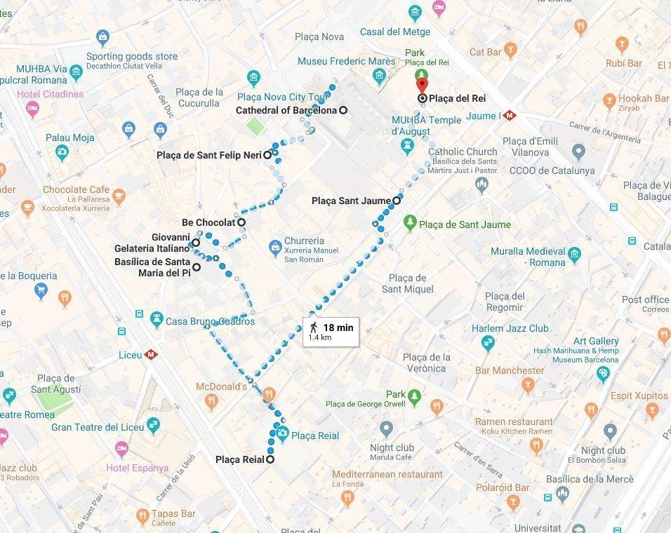 gothic quarter barcelona map