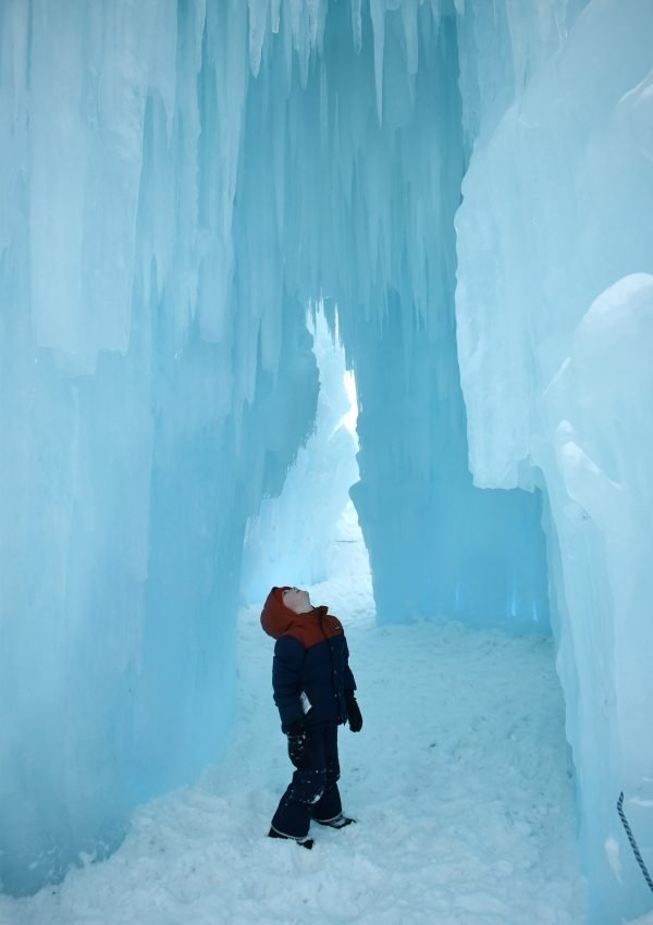 Visiting the Ice Castles in New Hampshire