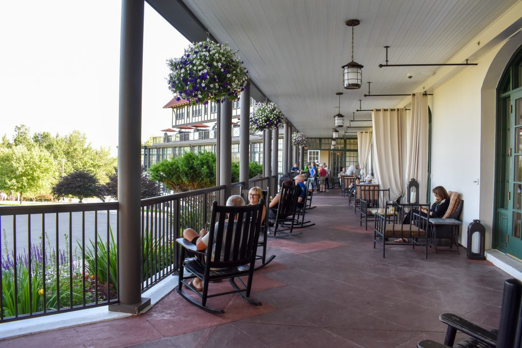 Front porch of the Algonquin Resort