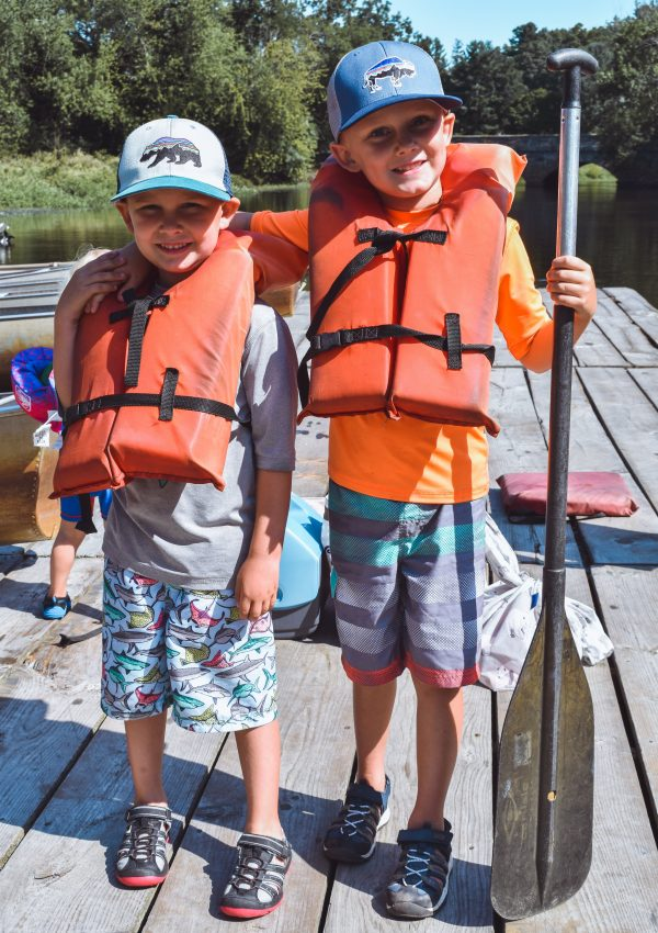 Boys ready for Canoeing