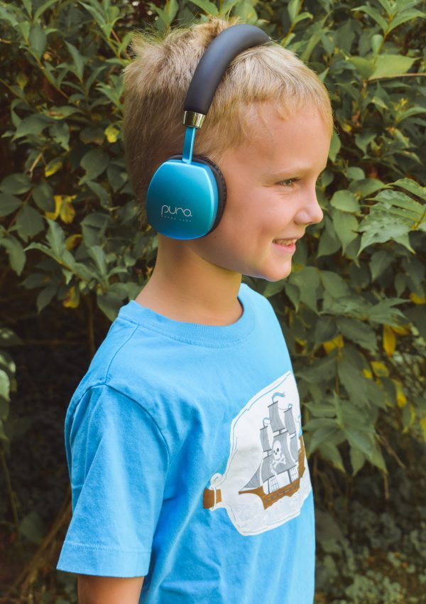 Boy with headphones on