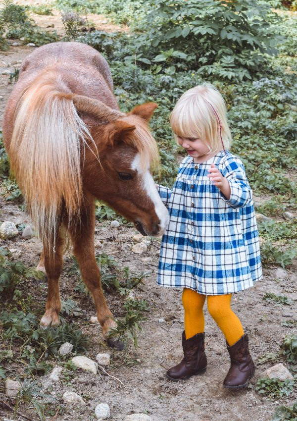 Lizzie with miniature horse
