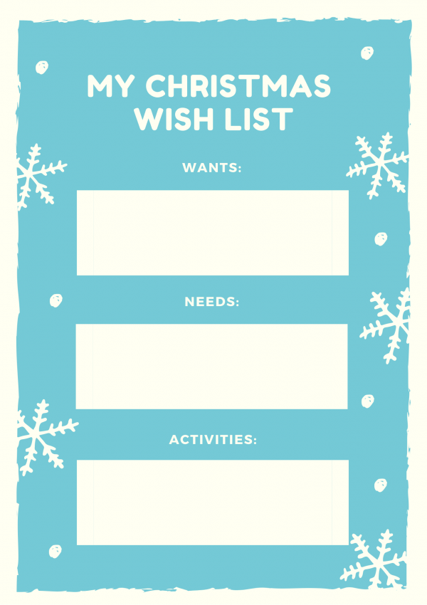 Christmas Wish List (free printables)