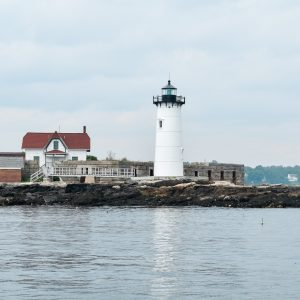 Light house in Portsmouth Harbor